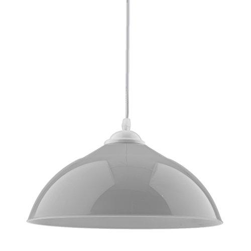 MagiDeal Sombra Semicircular Colgante de Lámpara de Techo Cubierta de Lámpara Colgante Decoración de Bombillas de Comedor de Hogar - Gris