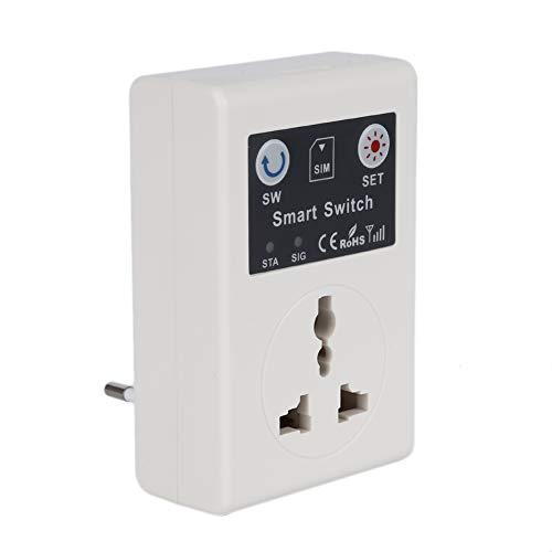 DKEyinx Steckdose mit Fernbedienung, Handy PDA GSM Kabellos RC Fernbedienung Steckdose Leistung Smart Schalter, für Warmwasserbereiter, Elektromotoren, elektrische Türen, Lampen, Reiskocher EU-Stecker