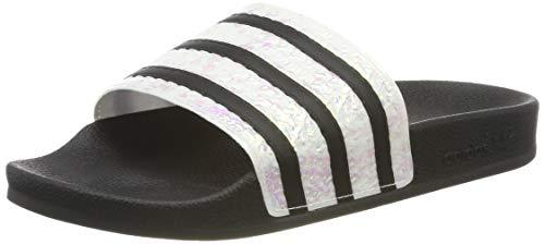 adidas Damen Adilette Dusch-& Badeschuhe, Schwarz (Core Black/Grey Two F17), 37 EU (Schwarz Fußbett, Weiches)