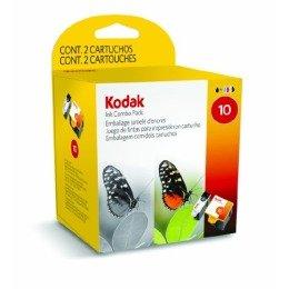 KODAK Combo Pack, 10B + 10C (1xColor + 1xBlack) Druckerpatronen, 420/425 Seit. (Kodak Tintenpatrone Schwarz 10)