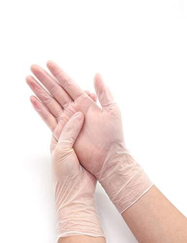 WYSTAO Wasserdichte Haushaltsküchengeschirrspülmittel-Einwegreinigungshandschuhe haltbare weibliche Handschuhe (Farbe : Klar)