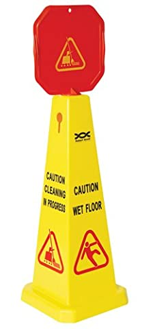 Wet Floor & Caution Cleaning In Progress Warning Hazard Cone. by The Chemical Hut