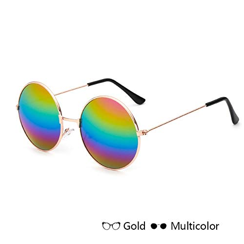 Sonnenbrille Runde Sonnenbrille Kids Retro Frame Brille Kinder Sonnenbrille Für Jungen Mädchen Brillen Uv 400 Goldene Farbe
