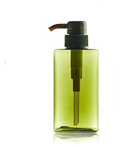 150ml/250ml plastica vuote ricaricabili Verde bottiglia pompa bottiglia contenitore Dispenser di sapone doccia vasetti per (Dispenser Di Sapone Fine)