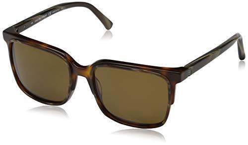 Calvin Klein Herren CK8574S 244 56 Sonnenbrille, Brown Horn/Soft Tortoise