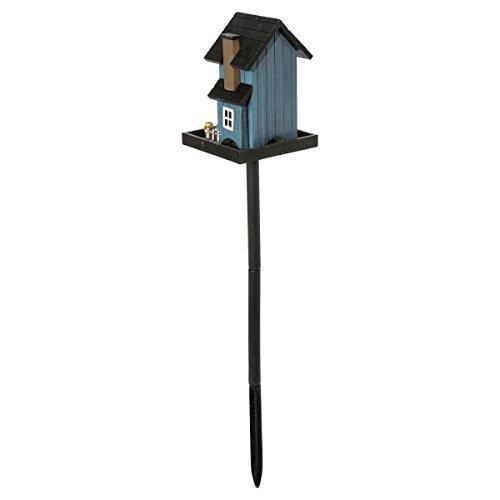 miaVILLA Futterhaus für Vögel – Vogelfutterhaus mit Ständer – Holz – Bunt - 8