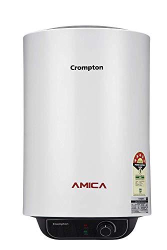 Crompton 25 L Storage Water Geyser(White/Grey, Amica)