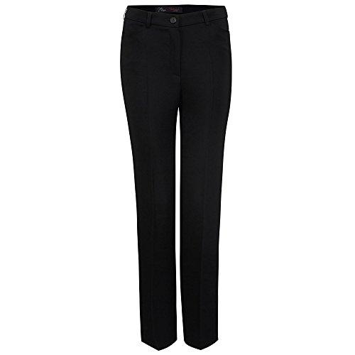 Relaxed by Toni 2220 82-03 Steffi Damen Hose mit Rückengummizug und Bügelfalte, Groesse 46, schwarz