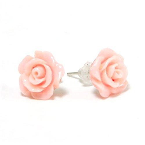 The Olivia Collection Smell The Rose-Orecchini a lobo a forma di rosa, colore: Rosa