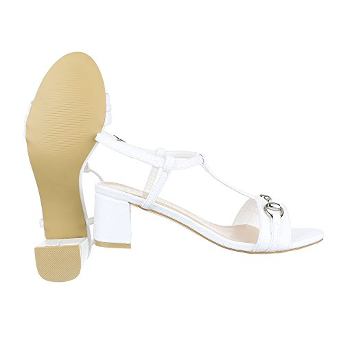 Sandalen design amp; Schuhe Modern Damen Schnalle Sandaletten Weiß Jazz Pantoletten Pump Moderne Ital tzwavw