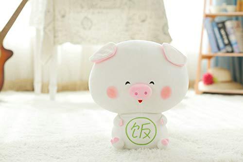 ahzha Kreative Cartoon Schwein Gesicht Puppe Plüsch Spielzeug Liegen Schwein Plüsch Puppe Kleine Pulver Schwein Sendet Freundin Geburtstagsgeschenk 40cm B - Pulver-liege