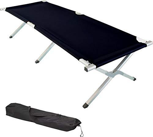 MaxxGarden Lit de Camp Pliable avec Poche - lit d'ami Camping Jardin Pliant - 190x64x43 cm