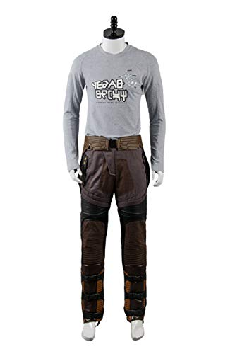 Manfis Star-Lord Adult Costume-Herren Uniform Outfit Cosplay Kostüm-Shirt Langarmshirt Top Bluse Tunika Hemd