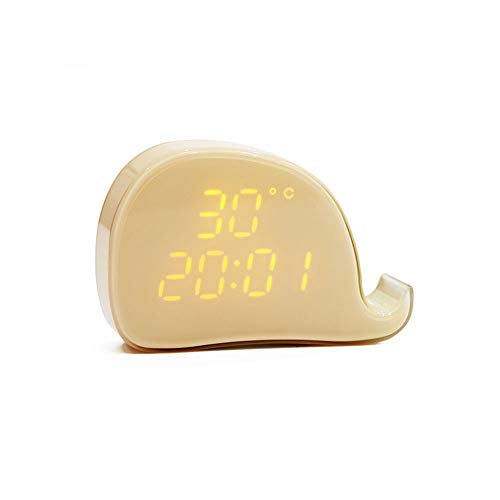LLCX USB Carga Reloj Despertador Reloj Ballena Control