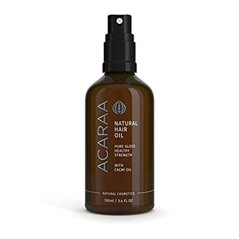 ACARAA Hair Oil, 1x100ml, For Healthy and Strong Hair | New: Cacay Oil | Argan Oil, Almond Oil, Jojoba Oil| Fresh Fragrance | Strengthen your Hair Roots | For Natural Brilliance | Natural Cosmetics | Branded Product from