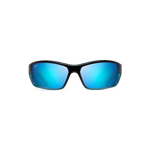 Maui Jim Sonnenbrillen (BARRIER REEF B-792-06C) dunkel blau - kristall türkis - grau-braun polarisierte mit blau verspiegelt effekt