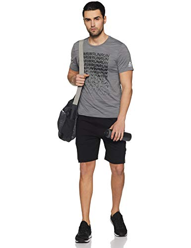 Chromozome Men's Track Pants (N-170 Gym Shorts_Black_Medium)