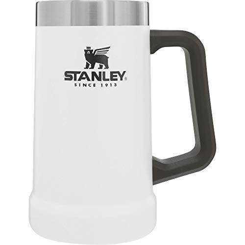 Stanley Adventure Series Big Grip Bierkrug 0.7L Polarweiß 18/8 Edelstahl Doppelwandige Vakuumisolierung Trinkflasche Robuster Griff Spülmaschinenfest Natürlich BPA-frei