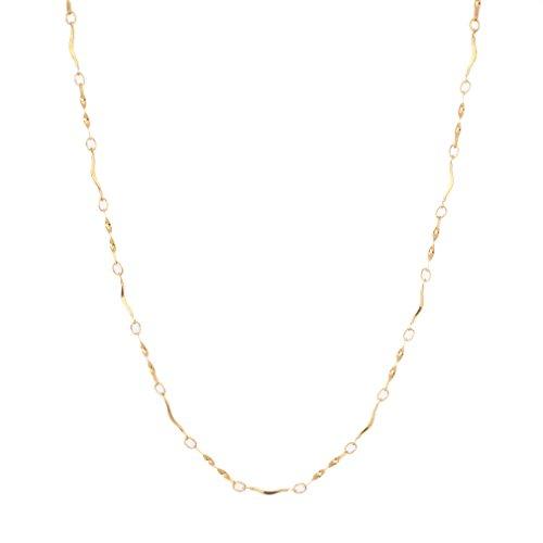 YAZILIND Gold vergoldet eleganten Charme zarte Kette Handarbeit -