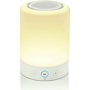 Lampe led ronde en cuivre piles avec d tecteur de - Lampe enceinte bluetooth ...