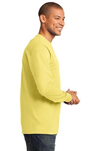 Port & Company Herren ist groß lang Sleeve Essential T Shirt Gelb