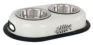 Buckingham Double Cat Bowl Cream (2 X 0.22 Ltr) from BIIA4