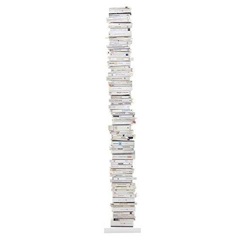 Opinion Ciatti Ptolomeo Büchersäule 215, weiß Fuß weiß lackiert 35 x 35 x 215 cm