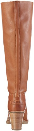 Shabbies Amsterdam Shabbies 42cm High Boot 6cm Heel Rubber Matching Sole, Bottes Hautes femme Marron - Braun (curry)