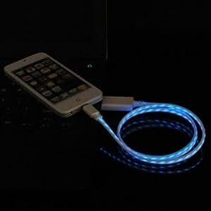 Cool Bleu LED Signal lumineux Câble de chargement et de données /USB pour cable Connector iPhone 5 5s iPod Touch iPad mini