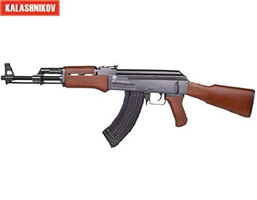 KOSxBO® AK47 Airsoft 6mm Gewehr - 0,5J ab 14 Jahren Springer - Rebellen - Softair Waffe - Erbsen Gewehr AK 47 - Originalgetreu -