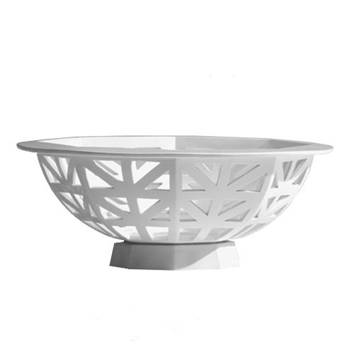 Industreal evesham centrotavola o portafrutta in porcellana bianca smaltata