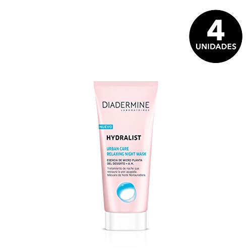 Pack de 4 cremas Diadermine Hydralist Relaxing Night Mask por 16,59€ ¡¡53% de descuento!!