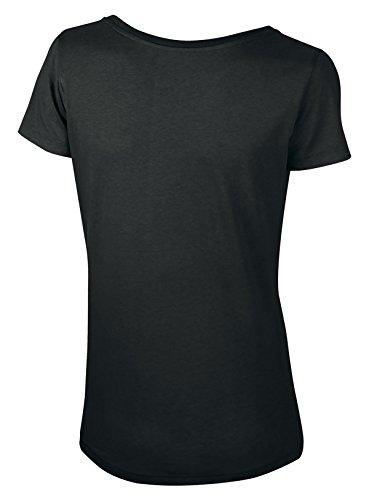 Lara Modal, Damen T-Shirt aus 50% Bio-Baumwolle und 50% Modal mit weitem Ausschnitt Schwarz