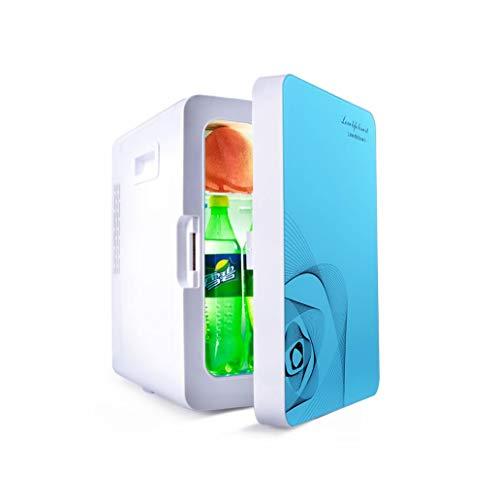 Tragbarer Mini-Kühlschrank Kühler und Wärmer Doppeltem Verwendungszweck für Camping Reisen und Zuhause - 20 Liter / 240V / Auto Refrigerator12V / geräuscharm (Farbe : Blau)
