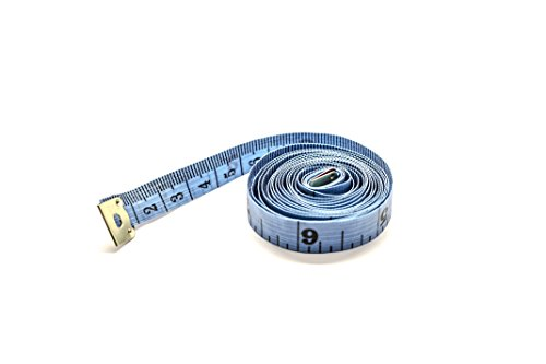 Cinta de costura para sastre, de 150 cm, con doble vista en centímetros y pulgadas., azul, 150 cm