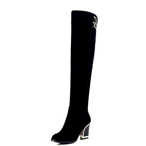 BalaMasa ,  Damen Durchgängies Plateau Sandalen mit Keilabsatz , Schwarz - schwarz - Größe: 35