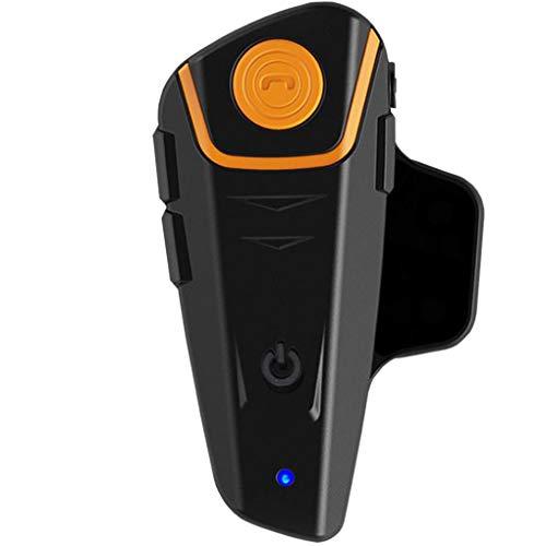Uzinb Auricolare Impermeabile Multi BT citofono 1000M Bluetooth del Motociclo del citofono del Casco Intercomunicador Moto Interfones