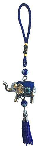 Bravo Team Blau Evil Eye Wandbild Zum Aufhängen für Schutz und Segen, Elefant Charm Anhänger Ornament für Stärke und Power, Anhänger Dekoration für Auto, Zuhause und Büro, Tolles Geschenk