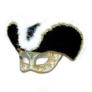 Gold Highwayman Mask & Hat