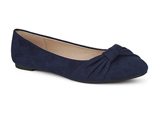 MaxMuxun Damen Geschlossene Ballerinas Flache Loafer Weiche Ballett Schuhe Dunkelblau Blau Größe 41 EU