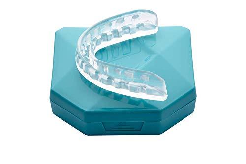 Férula Dental Placa de Descarga Nocturna Protector Bucal para dormir anti Bruxismo Rechinar los dientes y los Trastornos del ATM - va16