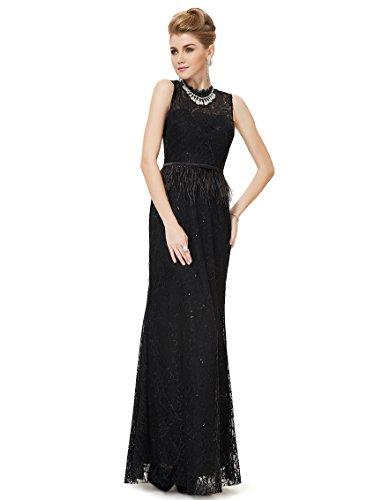 Ever Pretty Robe de cocktail longue noir lace noble 08211 Noir