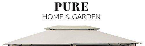 Pure Home & Garden Ersatzdach für Pavillon Capiata Natur, ca. 300 x 400 cm, Wasserabweisend mit...