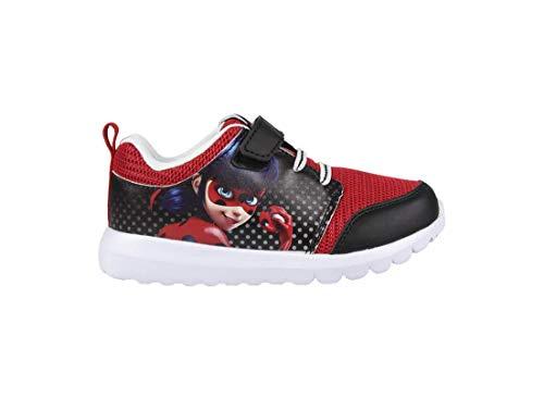 Miraculous Ladybug | Zapatillas Deportivas para Niñas con Suelas Ligeras | Zapatillas Fantásticas | Hermoso diseño | con Lady Bug! | (33 EU, Deportivas Ladybug)