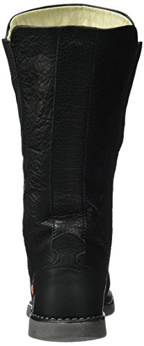 Softinos Damen Teya328sof Smooth Schlupfstiefel Schwarz (Black)