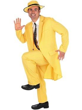 Fun Shack FN2783L Herren Kostüm 90er Jahre Gelb Maske Anzug Größe ()