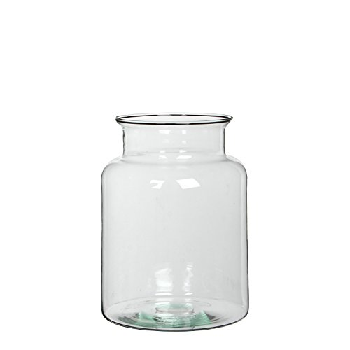 Mica decorations 1007014 Mathew Vase, Glas, transparent, 19 x 19 x 25 cm