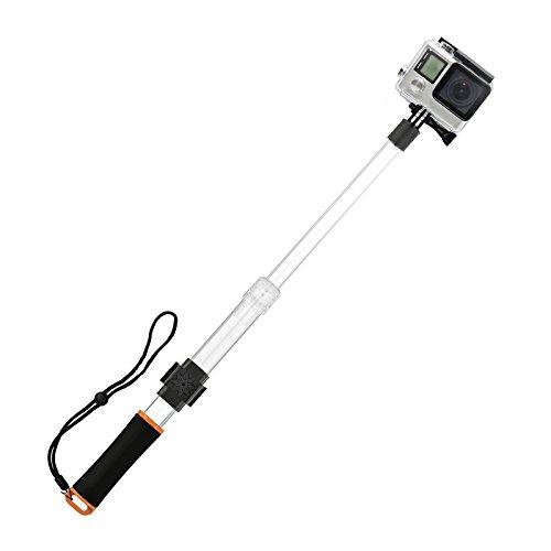 SHOOT Selfie Stick per Go Pro Prolunga trasparente impermeabile a galleggiante monopiede galleggiante con clip remoto per GoPro 5 4 3+ 3 SJ4000 SJ5000 SJ6000 Xiaoyi Yi 2 4K/ YI 4K+ Azione Telecamere Accessori Acqua (arancia)