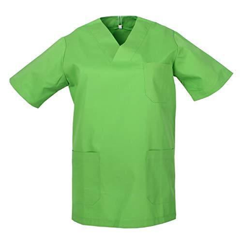 Misemiya ® Casaca Camisa Sanitrio Unisex Uniforme Laboratorios, Verde Manzana 18-XS