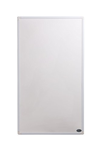 Télécommande Chauffage infrarouge (dernière technologie) Supreme Edition 600 W (fin et le plus léger panele sur le marché) heizpanele pour installation fixe sur carbone Crystal Base, 50 ans/100.000std Durée de vie et 99% Chauffage Transmission